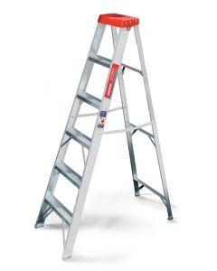 Escalera de tijera 5 escalones plataforma plastico