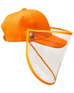 Gorra Junior PROTECTOR FACIAL Naranja