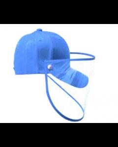 Gorra Junior PROTECTOR FACIAL Azul Cielo
