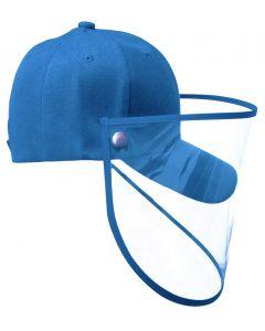 Gorra Junior PROTECTOR FACIAL Azul Turquesa