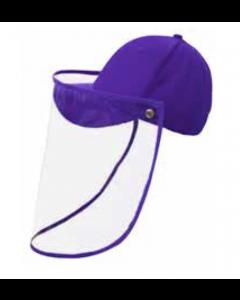 Gorra con protector facial morada