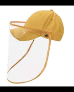 Gorra con protector facial amarilla