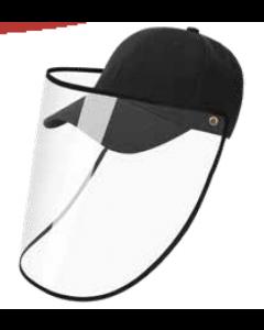 Gorra con protector facial negra