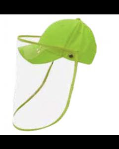 Gorra con protector facial verde