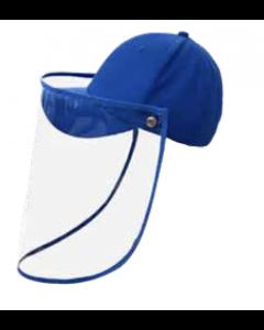 Gorra con protector facial azul