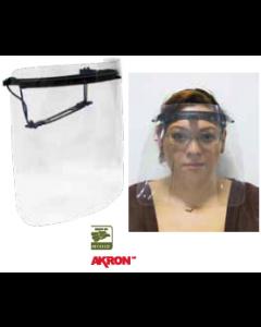 Protector facial profesional PVC alta resistencia negro